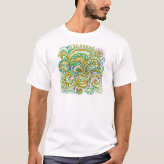 Folk Art Fantasy Pattern T-Shirt