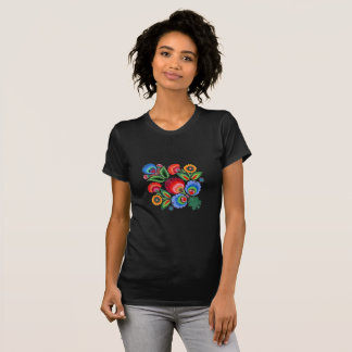 Folk Art Floral Fine Jersey T Shirt