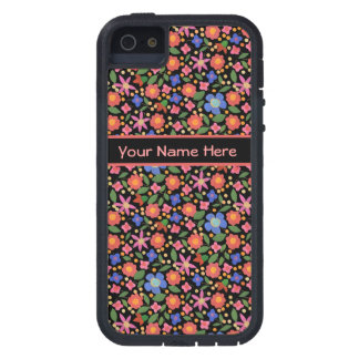 Folk Art Floral on Black iPhone 5/5s Xtreme Case iPhone 5 Cases
