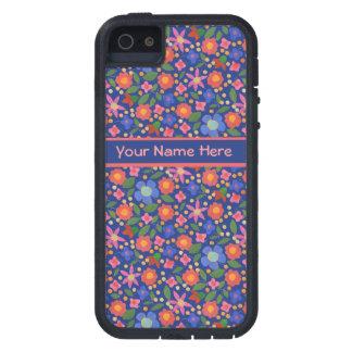 Folk Art Floral on Blue iPhone 5/5s Xtreme Case