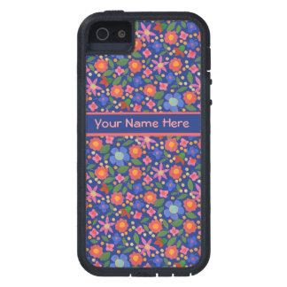 Folk Art Floral on Blue iPhone 5/5s Xtreme Case Case For The iPhone 5