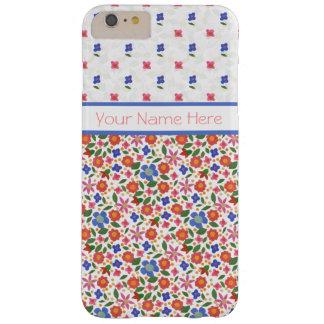 Folk Art Florals on White iPhone 6 Plus Case