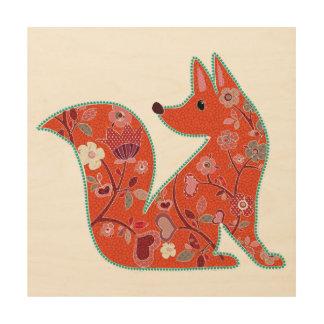 Folk Art Flower Pattern Fox