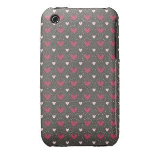 Folk Art Heart Pattern iPhone 3 Cover