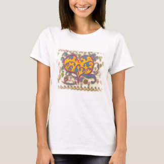 Folk Art Heart with leaves and flowers T-Shirt