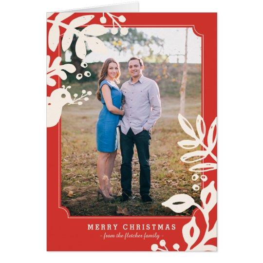 Folk Art Holiday Photo Greeting Card