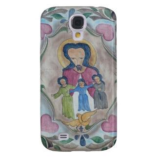 Folk Art Jesus Galaxy S4 Cases