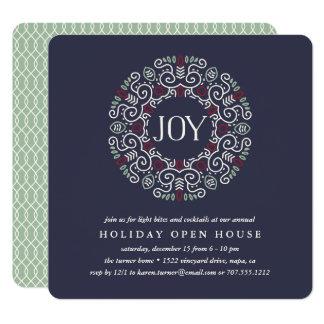 Folk Art Joy | Holiday Open House Party Invitation