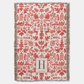 Monogram Holiday Blankets