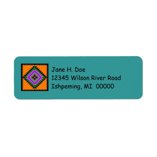 Folk Art Motifs Address Labels ~ EZ2 Change Info