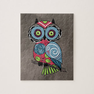 Folk Art Owl - Gorgeous! Jigsaw Puzzle