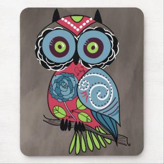 Folk Art Owl - Gorgeous! Mousepads