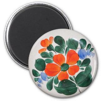 Folk Art Plate Refrigerator Magnets
