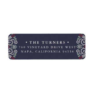 Folk Art Return Address Return Address Label
