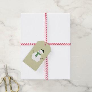 Folk Art Snowman Christmas Gift Tags