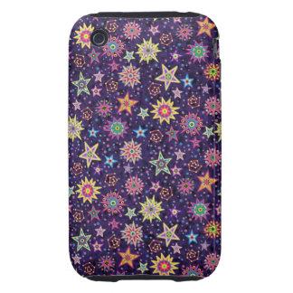Folk Art Starry Sky iPhone 3 Tough Case