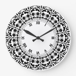 Country kitchen wall clocks - Black and white kitchen clock ...