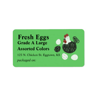 Folk Art Style Chicken Egg Label Address Label