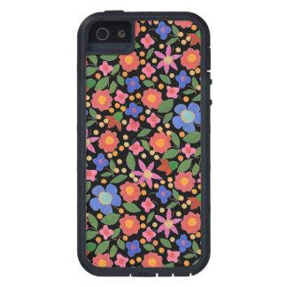 Folk Art Style Floral, Black iPhone 5 Xtreme Case