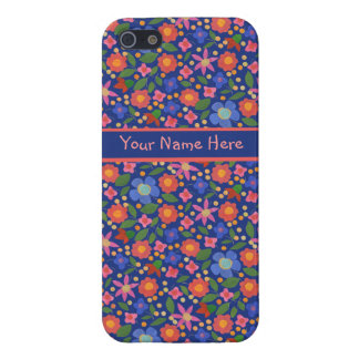 Folk Art Style Floral, Blue iPhone 5/5s Savvy Case iPhone 5/5S Cases