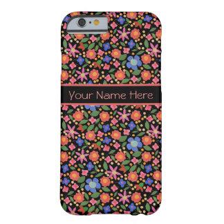 Folk Art Style Floral on Black iPhone 6 Case