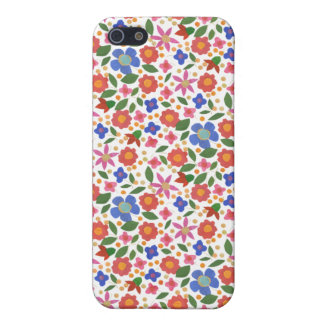 Folk Art Style Floral on White iPhone 5/5s Case