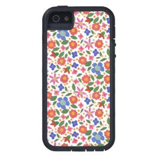 Folk Art Style Floral, White iPhone 5 Xtreme Case