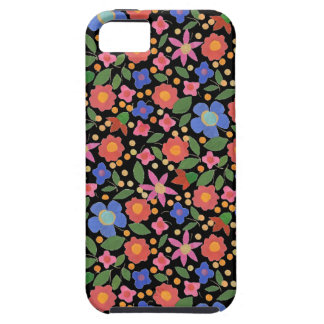 Folk Art Style Florals on Black iPhone 5/5s Case