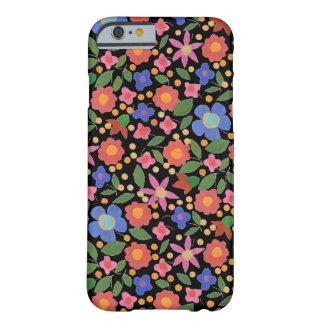 Folk Art Style Florals on Black iPhone 6 Case