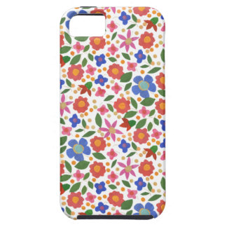 Folk Art Style Florals on White iPhone 5/5s Case