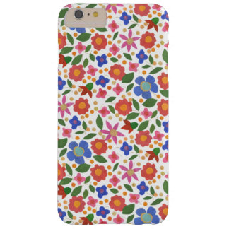 Folk Art Style Florals on White iPhone 6 Plus Case