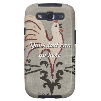 Folk Art Style Rooster Galaxy SIII Cases