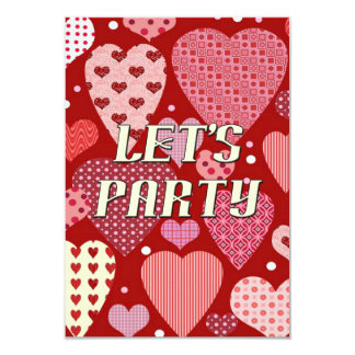 Folk Art Valentine's Day Party Invitations
