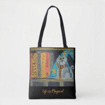 Folk Art Wizard Cat Tote Bag