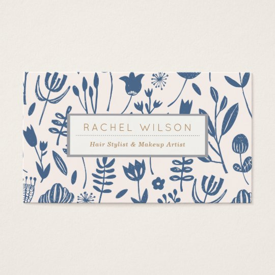 Folk Botanical Print Business Card