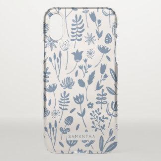 Folk Botanical Print iPhone X Case