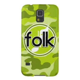 Folk bright green camo camouflage galaxy s5 covers