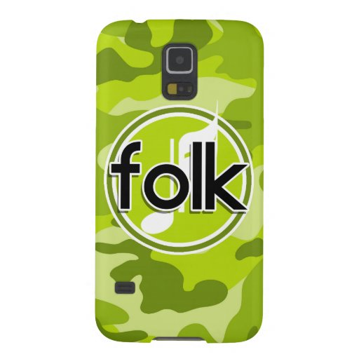 Folk; bright green camo, camouflage galaxy s5 covers