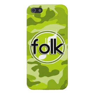 Folk bright green camo camouflage iPhone 5 case