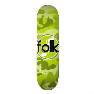 Folk; bright green camo, camouflage skateboards