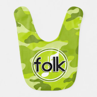 Folk bright green camo camouflage bibs