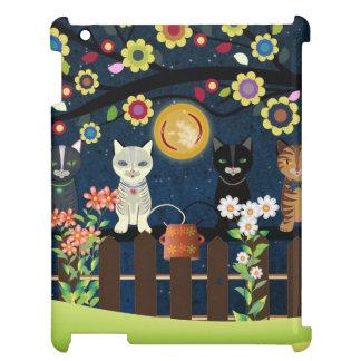 Folk Cats Sitting On A Brunch, iPad Case