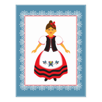 Folk Costume Postcard