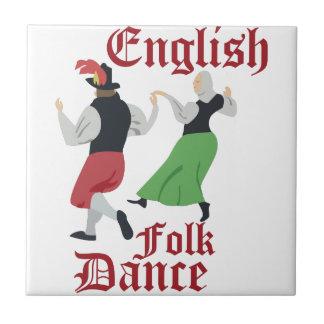 Folk Dance Small Square Tile