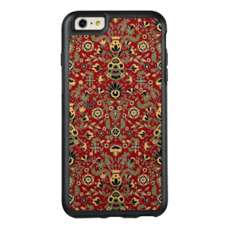 Folk Embroidery Yellow, Green, Black on Deep Red OtterBox iPhone 6/6s Plus Case
