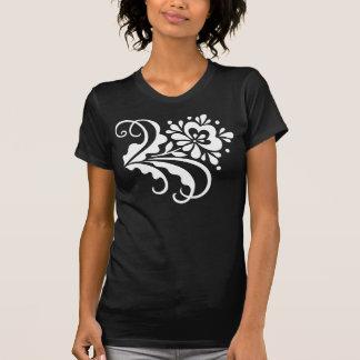 folk flower_white T-Shirt