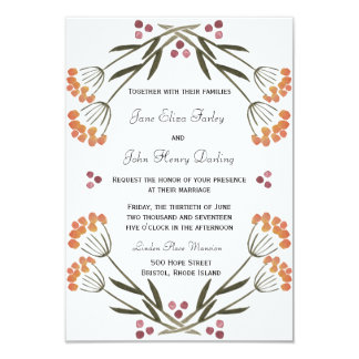 Folk Flowers Invitation