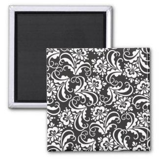 folk pattern square magnet