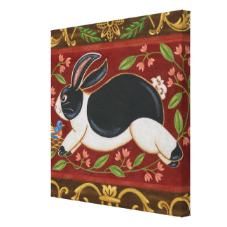 Folk Rabbit Canvas Print