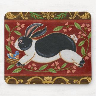 Folk Rabbit Mouse Mat